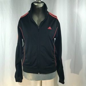 🏀BLACK&CORAL ADIDAS SPORTS JACKET🏀